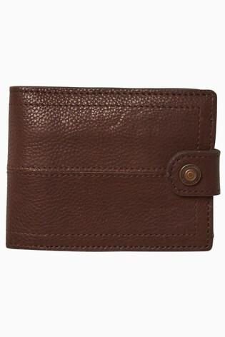 FatFace Brown Popper Detail Wallet