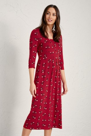 Seasalt Festive Berries Dahlia Seed Packet Dress