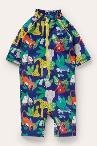 Boden Navy Printed Sun-Safe Surf Suit