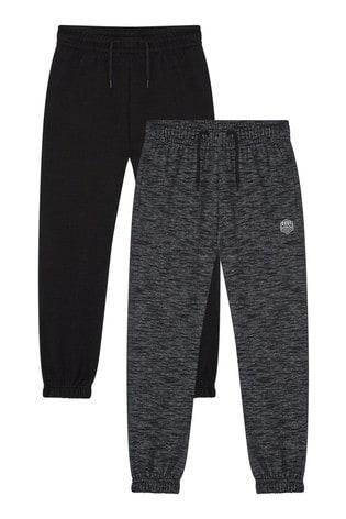 F&F Multi Black/Grey Joggers 2 Pack
