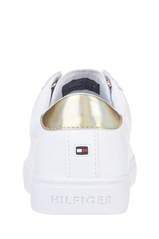Tommy Hilfiger White TH Elastic Slip-On Sneakers
