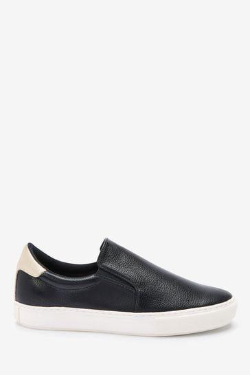 Black Regular/Wide Fit Forever Comfort® Slip-On Trainers
