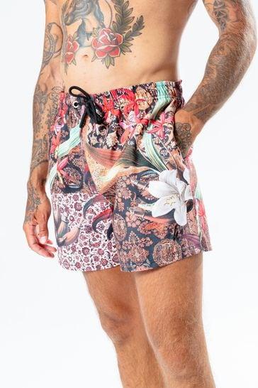 Hype. Mens Multi Persian Rose Swim Shorts