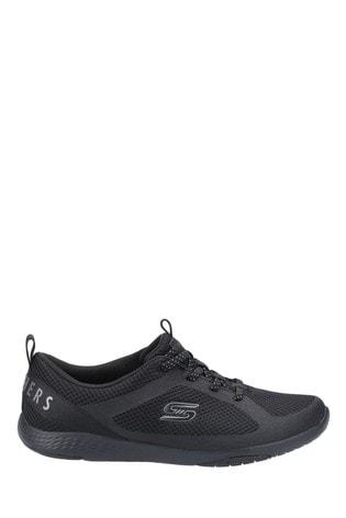 Skechers® Black Lolow Slip-On Sports Trainers