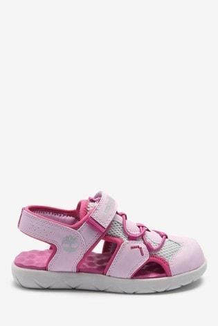 Timberland® Pink Perkins Row Fisherman Velcro Sandals