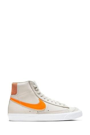 Nike Grey/Orange Blazer Mid Trainers