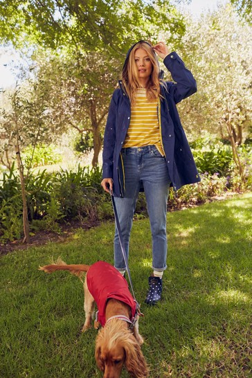 Joules Shoreside Stripe Coat With Jersey Lining