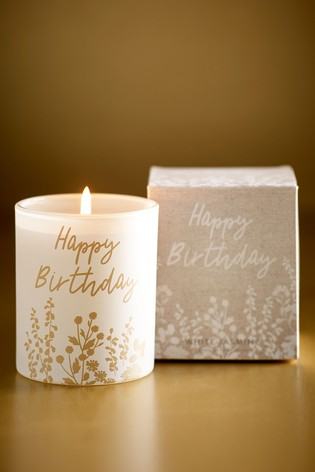 Floral Birthday Candle
