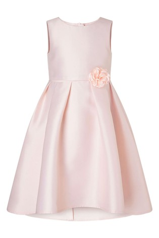 Monsoon Dusky Pink S.E.W Hi Low Duchess Twill Dress