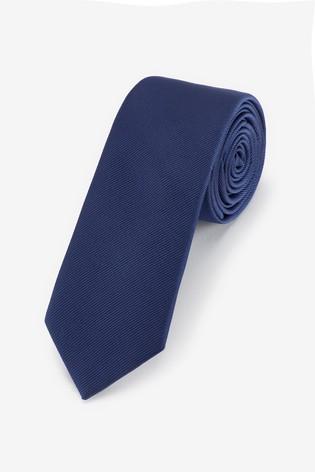 Navy Slim Twill Tie