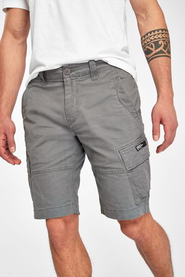 Superdry Charcoal Cargo Shorts