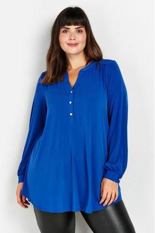 Evans Curve Blue Buttoned Shirt