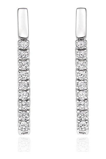 Beaverbrooks 9ct Diamond Bar Earrings