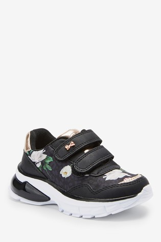 Baker by Ted Baker Black Leopard Floral Trainers