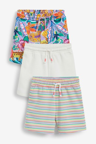 Tropical 3 Pack Cotton Jersey Shorts (3-16yrs)