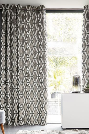 Luxe Cut Velvet Natural Grey Made To Measure Curtains