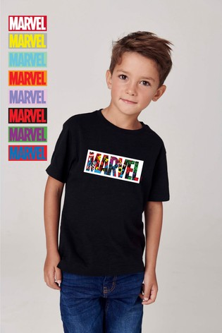 Personalised Disney™ Marvel® Logo T-Shirt