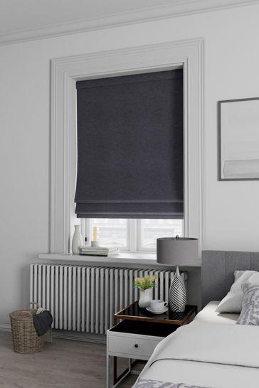 Soho Charcoal Black Made To Measure Roman Blind