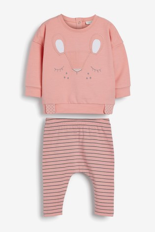 Pink Character Lightweight Sweat Top And Leggings Set (0mths-2yrs)