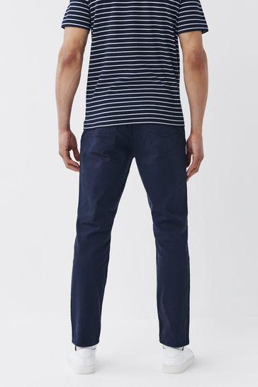 Dark Blue Slim Fit Motion Flex Soft Touch Trousers