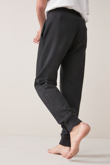 Black Cuffed Joggers Loungewear