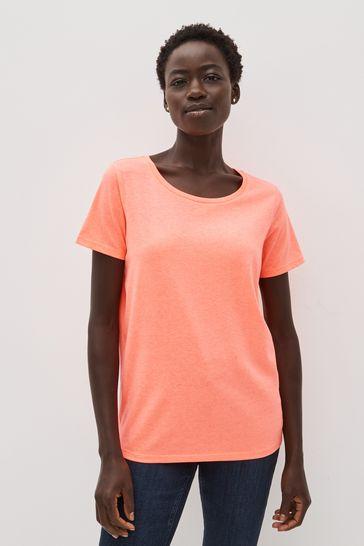 Fluro Pink Crew Neck T-Shirt