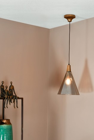 Libra Odessa Large Faceted Cone Pendant Light