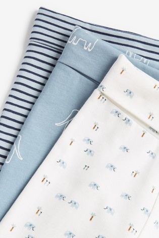 White/Blue Organic Cotton 8 Piece Set (0mths-2yrs)