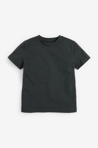 Charcoal Grey Short Sleeve Crew Neck T-Shirt (3-16yrs)