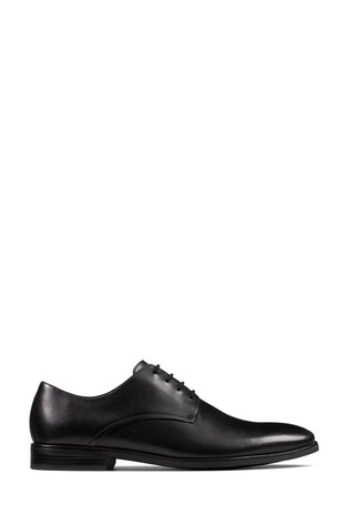 Clarks Black Leather Stanford Walk Shoes