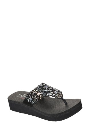 Skechers® Black Vinyasa Pretty Sandals