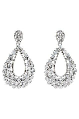 Accessorize Clear Isabella Teardrop Earrings