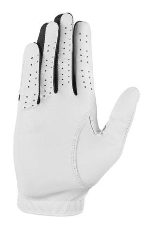 Nike Womens White RH Dura Feel Golf Gloves
