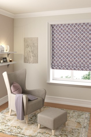 Souky Plum Purple Made To Measure Roman Blind