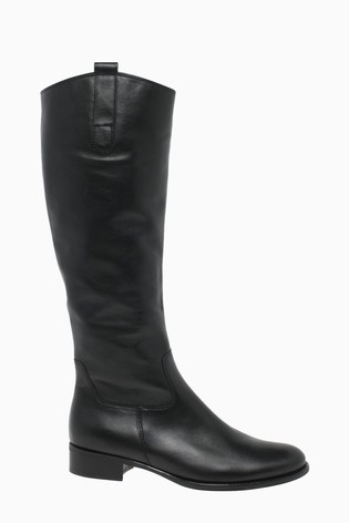 Gabor Brook Black Leather Knee Length Fashion Boots