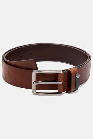Ted Baker Keepsak Contrast Detail Leather Belt