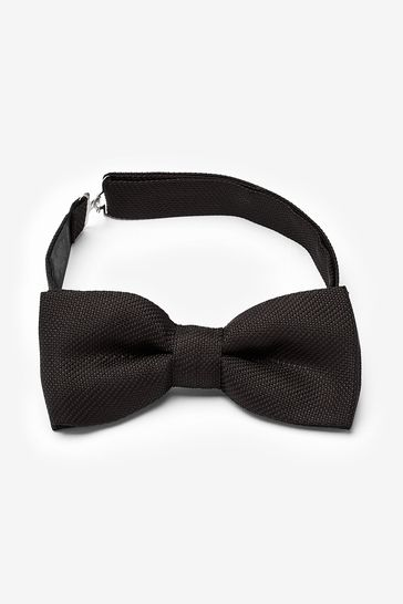Black 'Made In Italy' Signature Silk Bow Tie