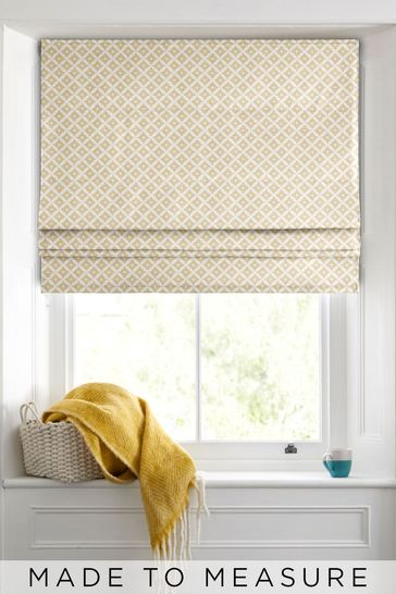 Dawson Geo Ochre Made To Measure Roman Blind