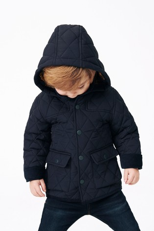 Navy Quilted Jacket (3mths-7yrs)