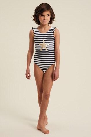 FatFace Starfish Stripe Swimsuit