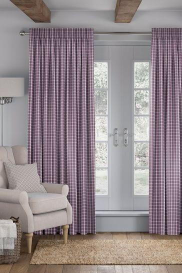 Mulberry Purple Malvern Made To Measure Curtains