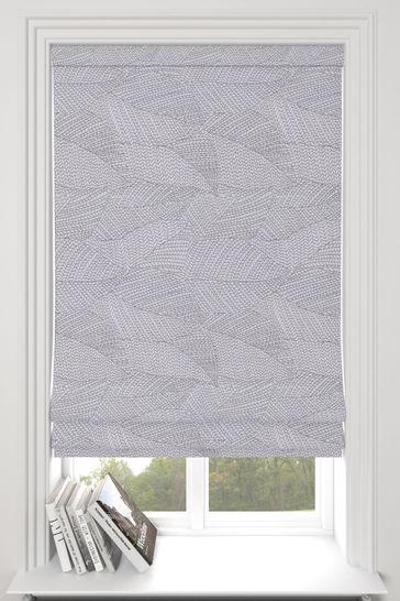 Darby Slate Grey Made To Measure Roman Blind