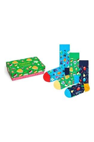 Happy Socks Mens Birthday Three Pack Gift Box