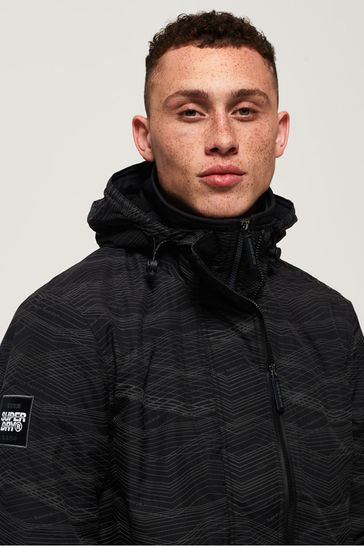 Superdry Hooded Arctic Print Pop Zip SD-Windcheater Jacket