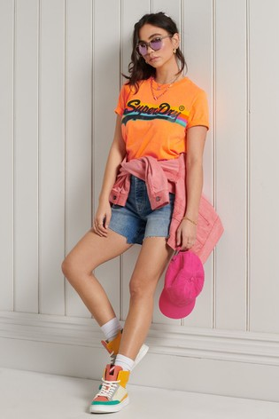 Superdry Orange Vintage Logo Cali T-Shirt