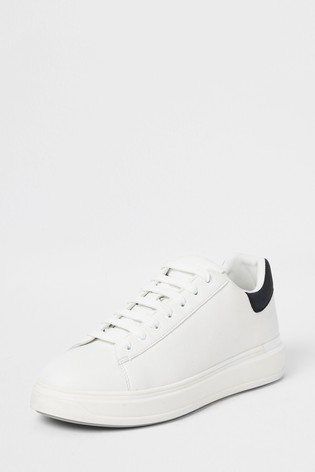 Buy River Island White Wedge Sole Text