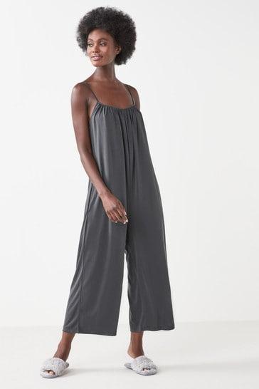 Charcoal Grey Modal Blend Lounge Jumpsuit