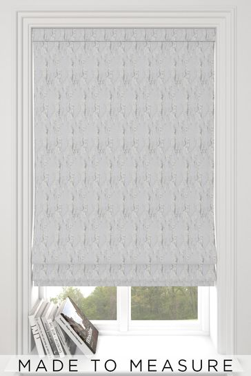 Monroe Oyster Grey Made To Measure Roman Blind