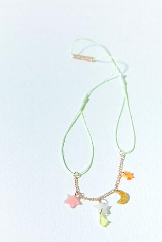 Mint Velvet Multi Moon Stars Charm Necklace