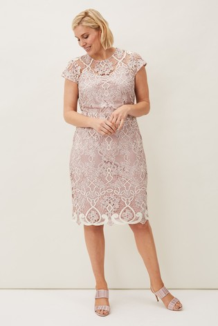 Phase Eight Pink Frances Lace Dress